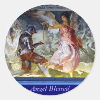 Angel Blessed Round Sticker