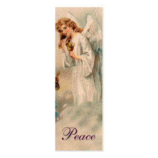 Angel Blessing Love Note or bookmark - Purple Pack Of Skinny Business Cards