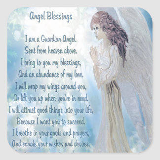 Angel Blessings Square Sticker