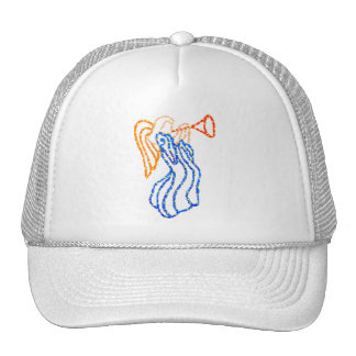 Angel Blowing a Horn Mesh Hats