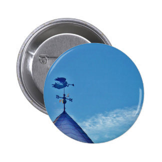 Angel BLOWING HORN WEATHER VANE Pinback Button