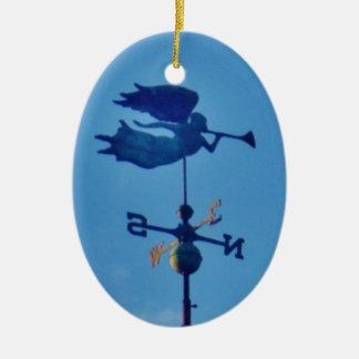 Angel BLOWING HORN WEATHER VANE Ceramic Ornament