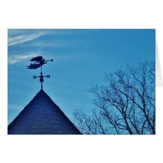 Angel BLOWING HORN WEATHER VANE Greeting Card