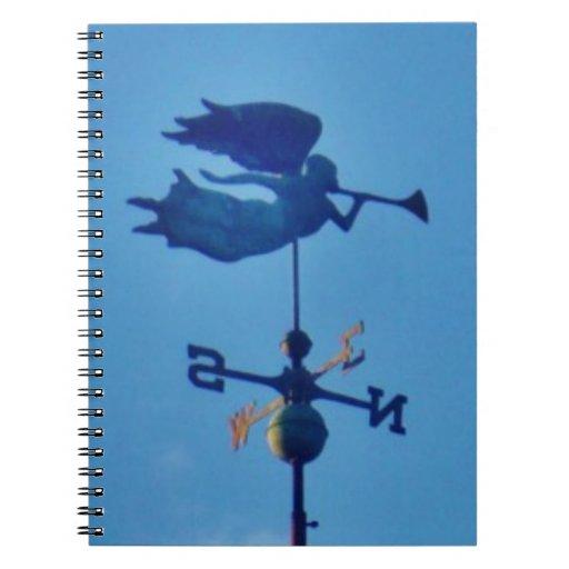 Angel BLOWING HORN WEATHER VANE Spiral Notebook