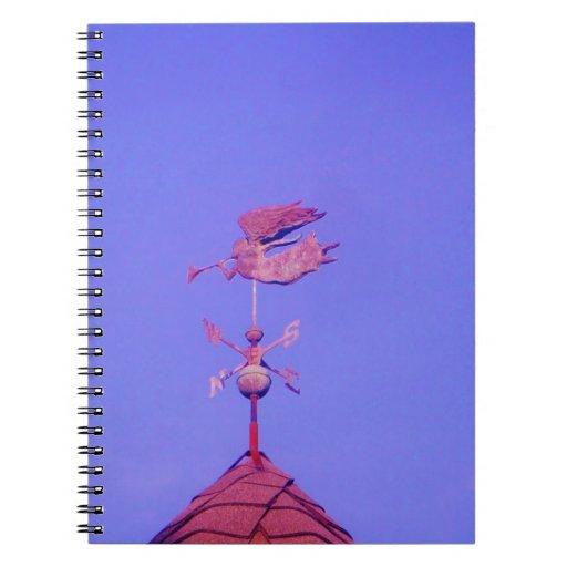 Angel BLOWING HORN WEATHER VANE Note Book