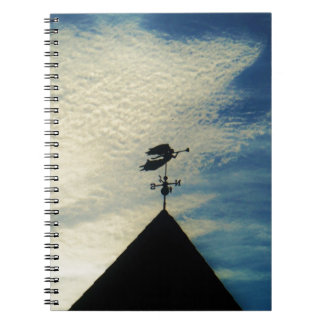 Angel BLOWING HORN WEATHER VANE Notebooks