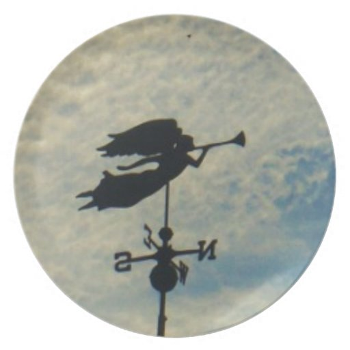 Angel BLOWING HORN WEATHER VANE Plates