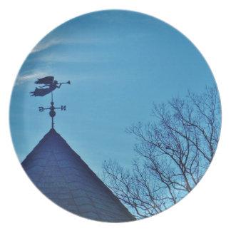 Angel BLOWING HORN WEATHER VANE Dinner Plates