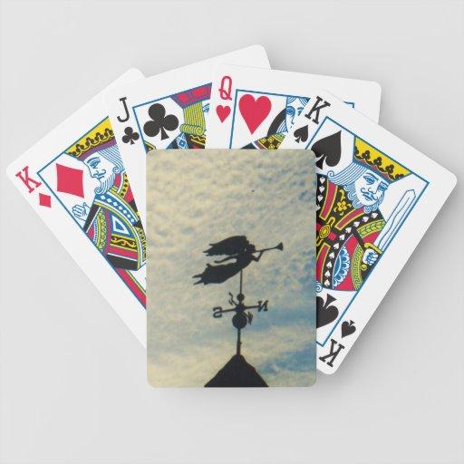 Angel BLOWING HORN WEATHER VANE Poker Deck