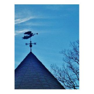 Angel BLOWING HORN WEATHER VANE Postcard