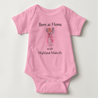 angel, Born at Home with Highland Midwife Baby Bodysuit
