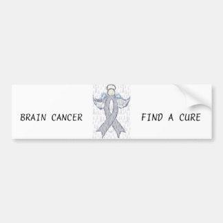 Angel Brain Cancer Ribbon Car Bumper Sticker