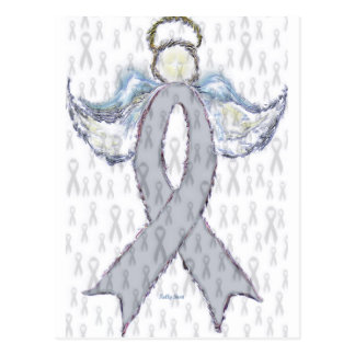 Angel Brain Cancer Ribbon Postcard