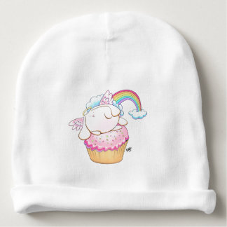 Angel Bunny Riding a Cupcake Baby Beanie