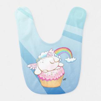 Angel Bunny Riding a Cupcake Baby Bib