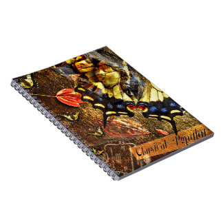 Angel butterfly collage notebook