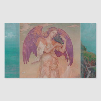 Angel by Ocean Rectangular Sticker