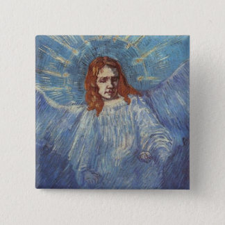 Angel by Vincent van Gogh 15 Cm Square Badge