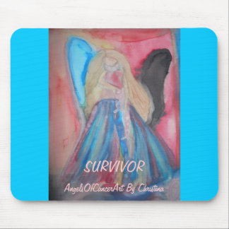 angel cancer mouse pad to support breast cancer