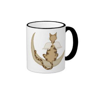 Angel Cat 1 Ringer Coffee Mug