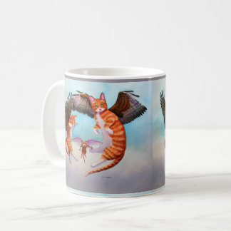 Angel Cat and Mouse Game Coffee Mug