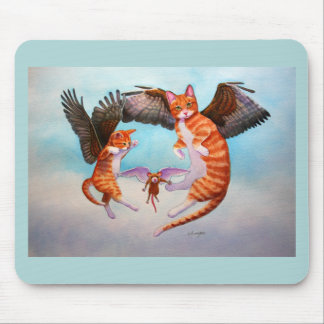 Angel Cat and Mouse Game Mouse Pad