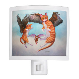 Angel Cat and Mouse Game Night Light