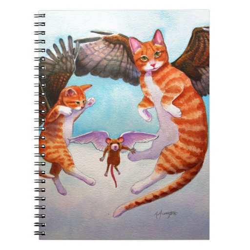 Angel Cat and Mouse Game Note Book