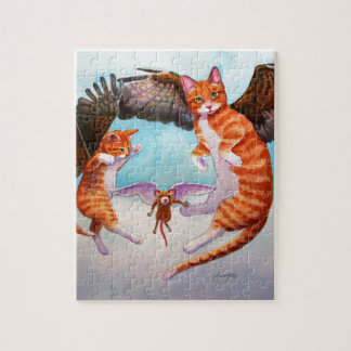Angel Cat and Mouse Game Jigsaw Puzzle
