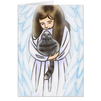 Angel & Cat Card