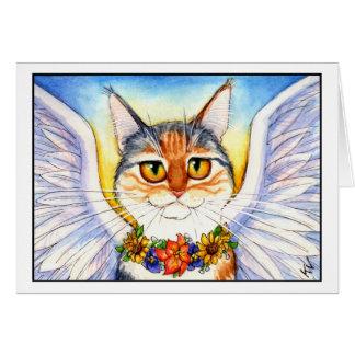 Angel Cat condolence card