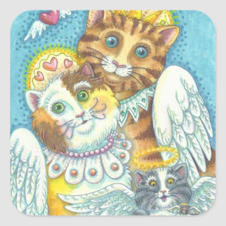 Angel Cat Family PURRS IN HEAVEN STICKERS Sheet