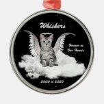 Angel Cat Personalised Memorial Christmas Ornament