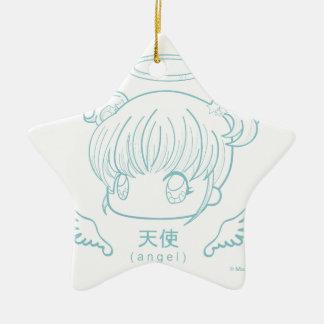 Angel Ceramic Star Decoration
