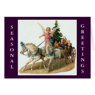 ANGEL CHARIOT RIDE CHRISTMAS CARD