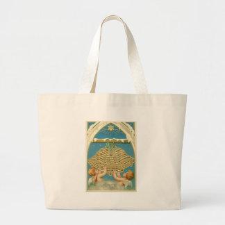 Angel Cherub Bell Heaven Star of Bethlehem Jumbo Tote Bag