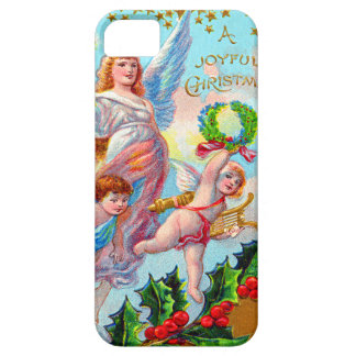 Angel Cherub Christian Cross Bell Wreath Holly Barely There iPhone 5 Case