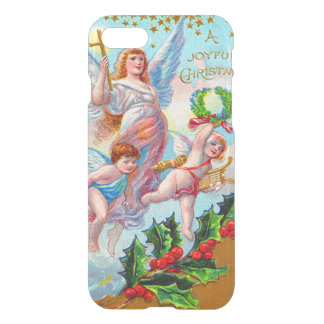 Angel Cherub Christian Cross Bell Wreath Holly iPhone 7 Case
