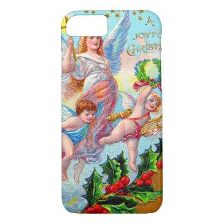 Angel Cherub Christian Cross Bell Wreath Holly iPhone 7 Case