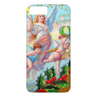 Angel Cherub Christian Cross Bell Wreath Holly iPhone 7 Plus Case