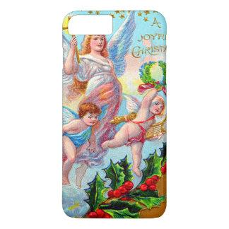 Angel Cherub Christian Cross Bell Wreath Holly iPhone 7 Plus Case