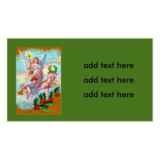 Angel Cherub Christian Cross Bell Wreath Holly Pack Of Standard Business Cards