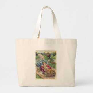 Angel Cherub Forget-Me-Not Car Large Tote Bag