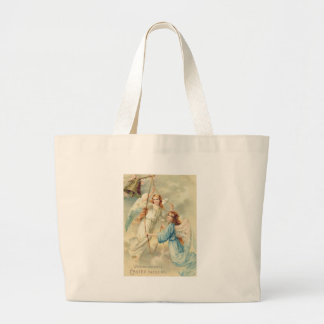 Angel Cherub Heaven Ringing Bell Large Tote Bag