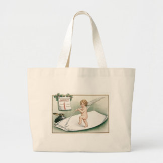 Angel Cherub Holly Calendar Resolution Letter Jumbo Tote Bag
