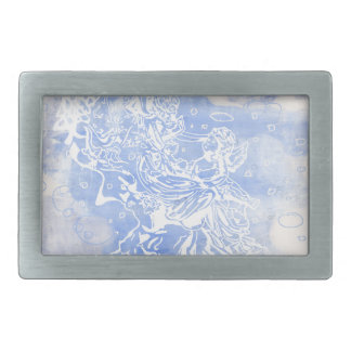 Angel&Cherub Rectangular Belt Buckle