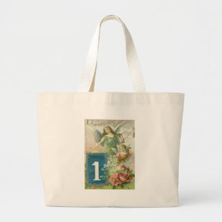 Angel Cherub Rose Cornucopia Sun Jumbo Tote Bag