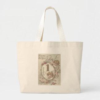 Angel Cherub Rose Jumbo Tote Bag