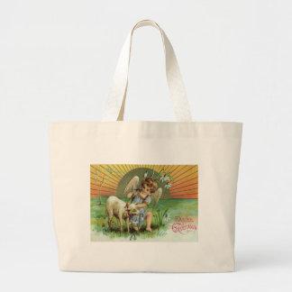 Angel Cherub Sun Lamb Sheep Jumbo Tote Bag
