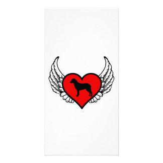 Angel Chesapeake Bay Retriever dog winged Heart Customized Photo Card